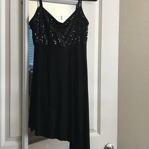 WORN ONCE! Thin Strapped Dress w/Sequins